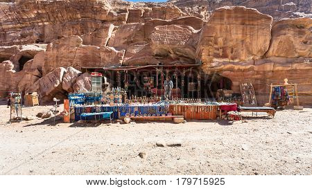 Bedouin Gift Shop In Ancient Petra Town