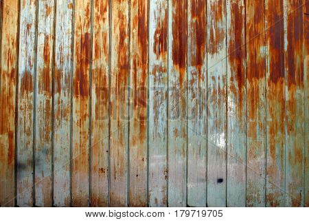 The old iron wall with some rusty