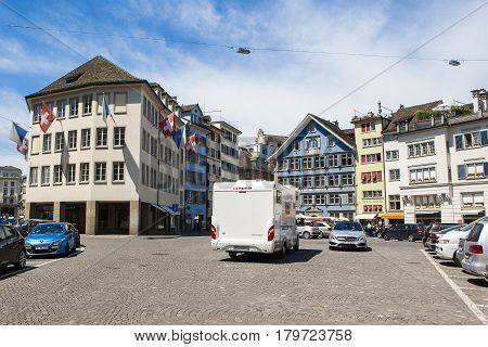 Bern Switzerland - 21 May 2016: Street view in capital of Switzerland Bern Switzerland 21 May 2016