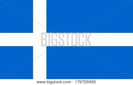 Colored Flag Of The Shetland Islands