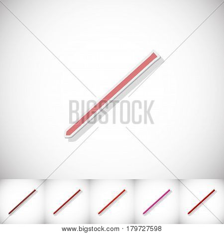 Scrap. Flat sticker with shadow on white background. Vector illustration