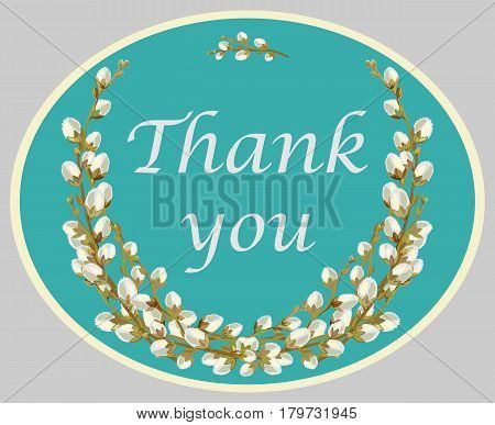 Decorative colorful card, symbol of gratitude with floral background with text. Template design for poster, greeting card, t-shirts, prints, banners.