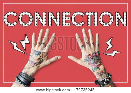 Connection Link Network Togetherness Associated