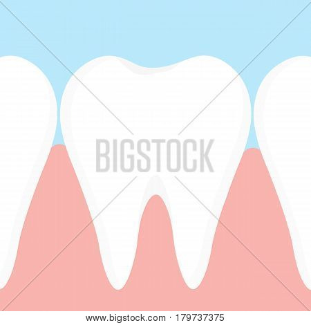 Gums and teeth vector design for  medical