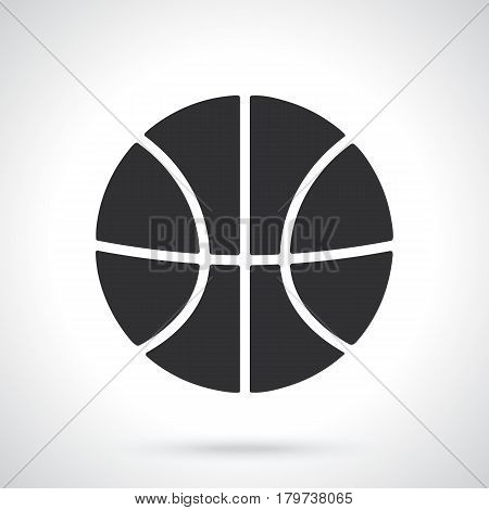 Vector illustration. Silhouette of basketball ball. Sports equipment. Patterns elements for greeting cards, wallpapers