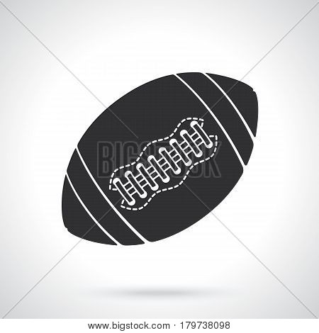 Vector illustration. Silhouette of ball for American football or rugby. Sports equipment. Patterns elements for greeting cards, wallpapers