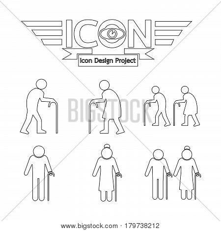 an images of Or pictogram Elder People Icon