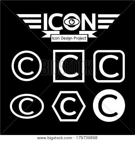 an images of Or pictogram copyright icon