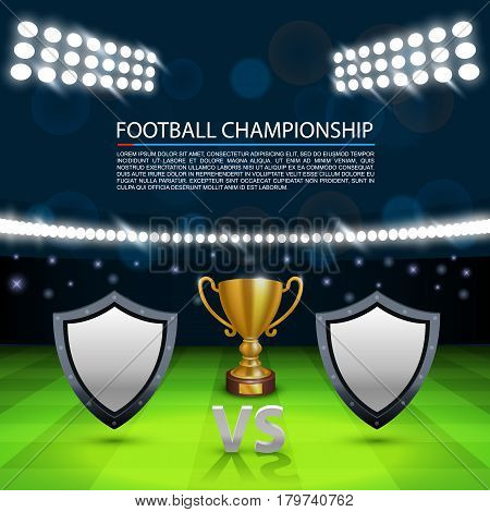 Football championship cover, Sport Cup background, Vector