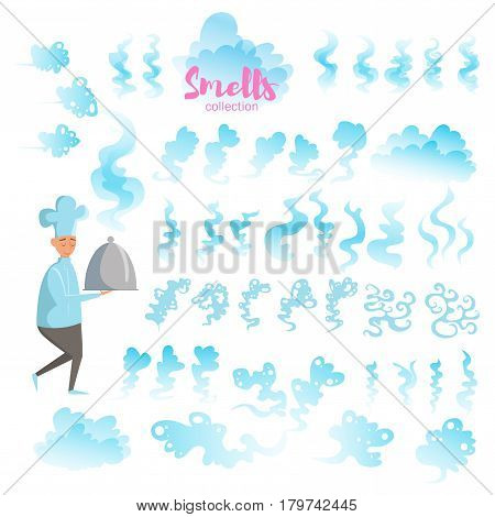 Set with good smells. Isolated art on white background. Vector. Flat.