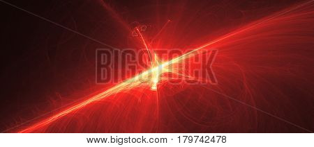 Orange Glow Energy Wave.