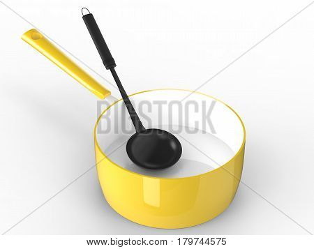 Sauce Pan With Ladle