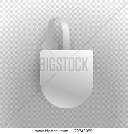 Shelf wobbler discount label mockup with strip isolated on transparent background, sale and best seller tag for product sale in shop, best price, special offer, realistic design, vector illustration