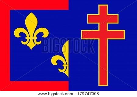 Flag of Maine-et-Loire is a department in west-central France in the Pays de la Loire region