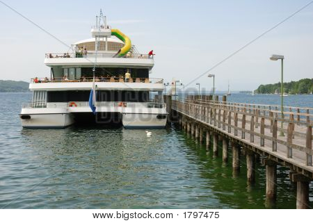 Pleasure Boat On Lake Starnberg