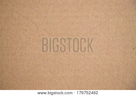 Closed up of brown paper craft texture background