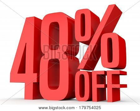 Forty Eight Percent Off. Discount 48 %.