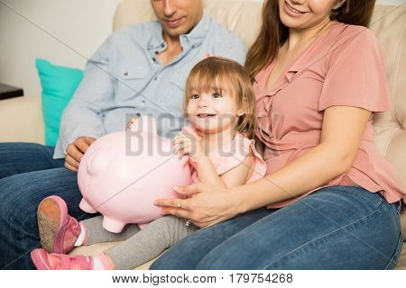 Girl Proud Of Her Money Savings