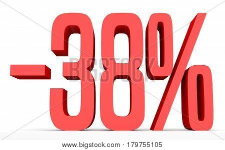Minus Thirty Eight Percent. Discount 38 %.