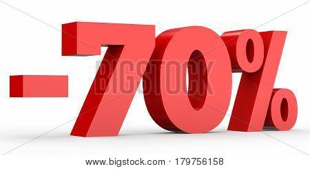 Minus Seventy Percent. Discount 70 %.