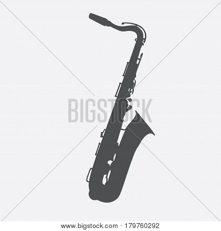 Musical Instrument Saxophone that Plays Jazz Music Direction. Vector Illustration. EPS10