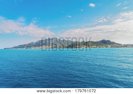 Beautiful seaside lanscape of Zakinthos island, Greece