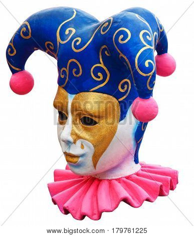 Carnival decoracion head of a fool and mask