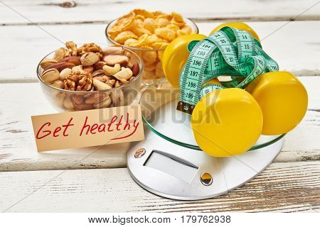 Kitchen scales and cornflakes. Helping people get healthy.