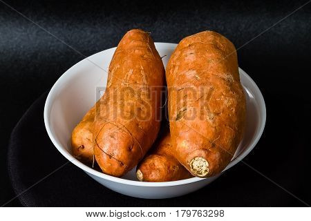 The sweet Potatoes ready for cooking prep