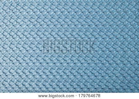 Sky blue crinkle polyester fabric from above