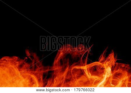 fire on the black backgrounds
