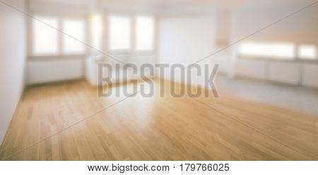 Empty Blur Apartment Background Template