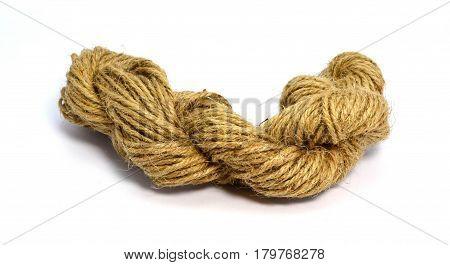 Hemp rope - isolated on white background