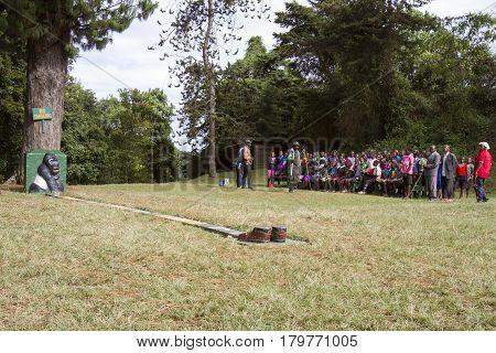 Community Awareness Training, Bwindi Impenetrable National Park, Ugands