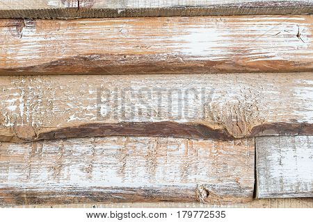 Horizontal background. Texture of old wooden boards