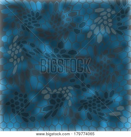 Modern Creative Kryptek neptune Camouflage patterns. Vector Illustration.