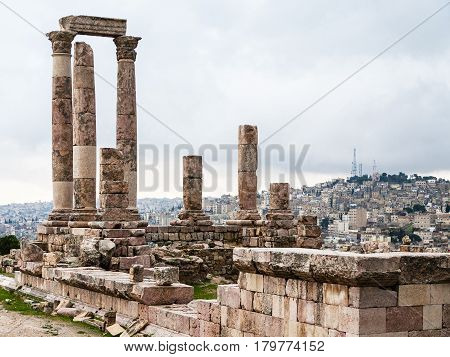 View Of Temple Of Hercules And Amman City