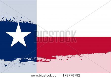 The Texan state flag behind a faded white splash