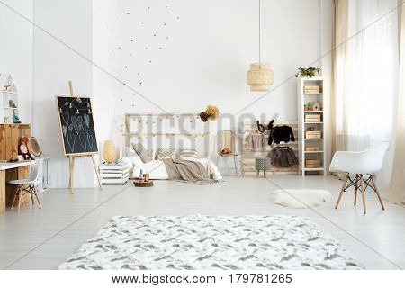 Bedroom Designed In Scandinavian Style