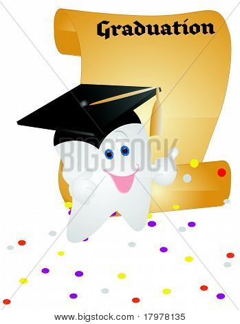 Tooth graduating in life..