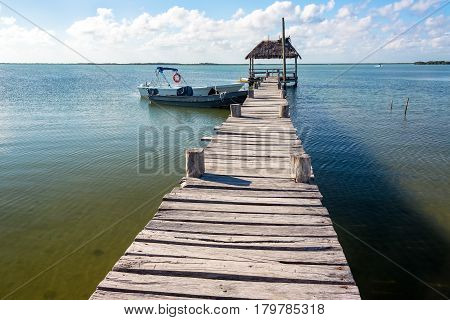 Old Rustic Pier In Mexico