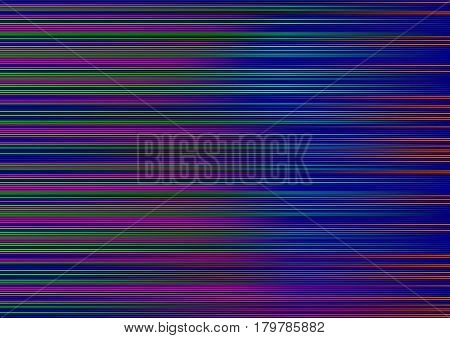 Abstract blue striped lined horizontal glowing background. Scan screen. Technological futuristic card with stripes. Vector illustration.