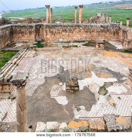 Ruin Of Byzantine Church In Jerash City