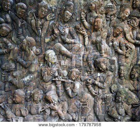 Buddah wall texeture