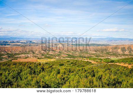 Bardenas Reales Natural Park in Navarre, Spain