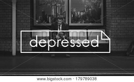 Depressed Hopeless Recession Stressed Sadness