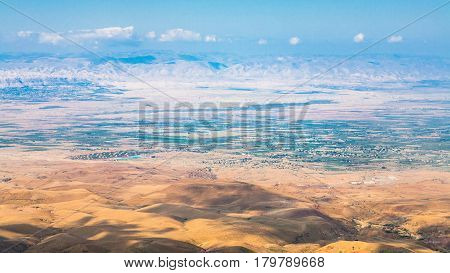View Of Hills In Promised Land From Mount Nebo
