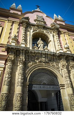 Museum of Fine arts of Seville in Andalusia