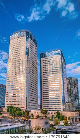 High-rise Residential Buildings In Modern Tokyo