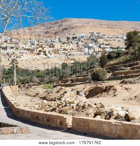 View Of Town Wadi Musa From Petra